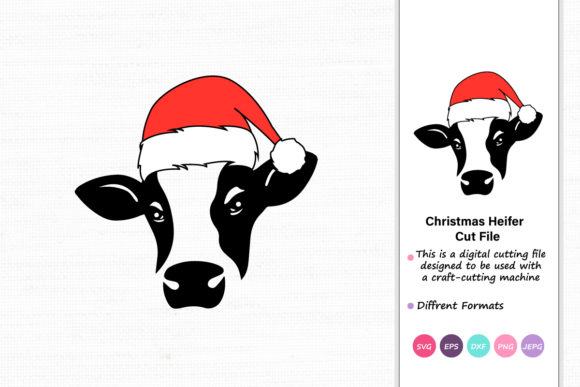 Print on Demand: Christmas Heifer Graphic Crafts By iprintasty