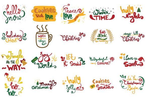 Christmas Quotes Set Graphic By Wienscollection Creative Fabrica