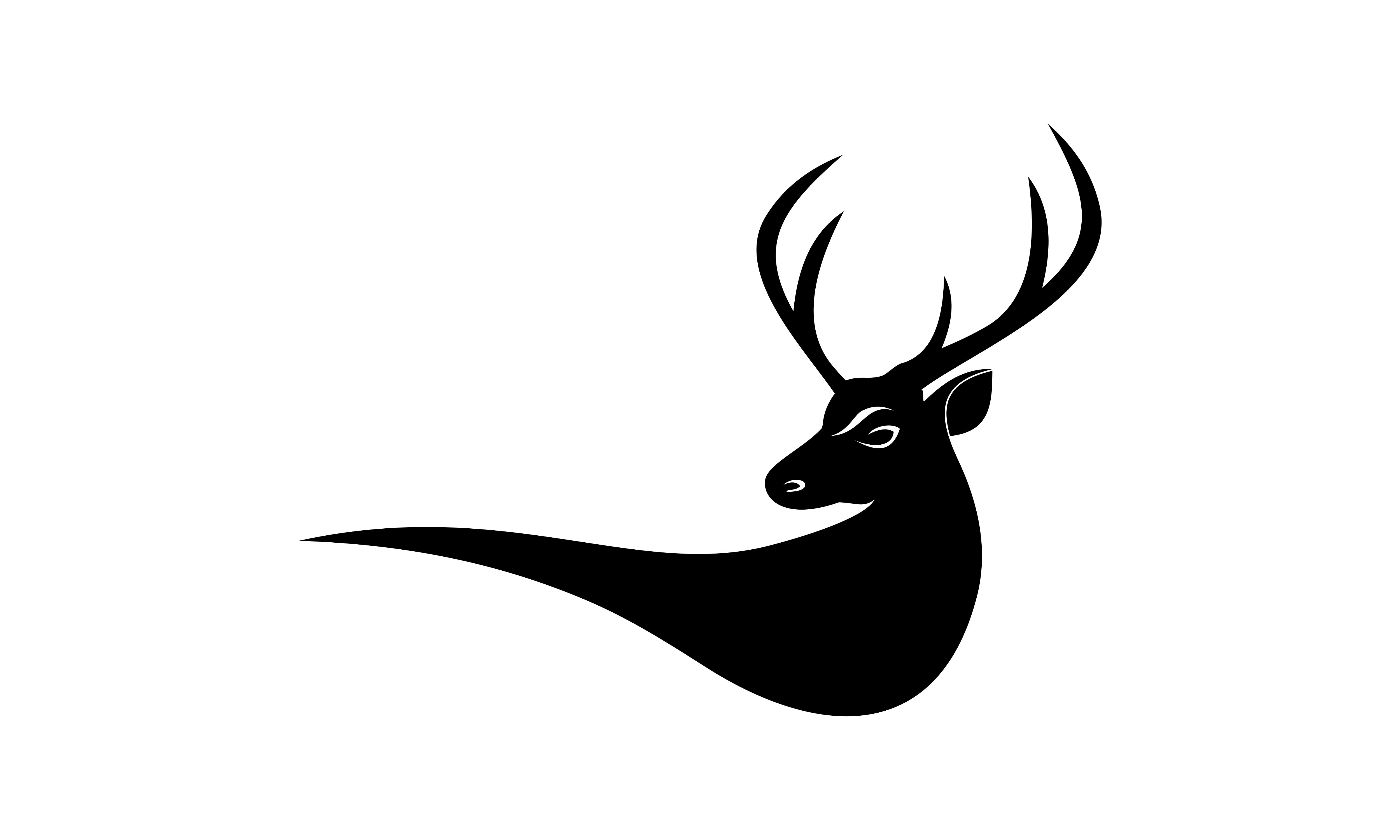 Download Free Deer Head Creative Design Logo Vector Graphic By Deemka Studio SVG Cut Files
