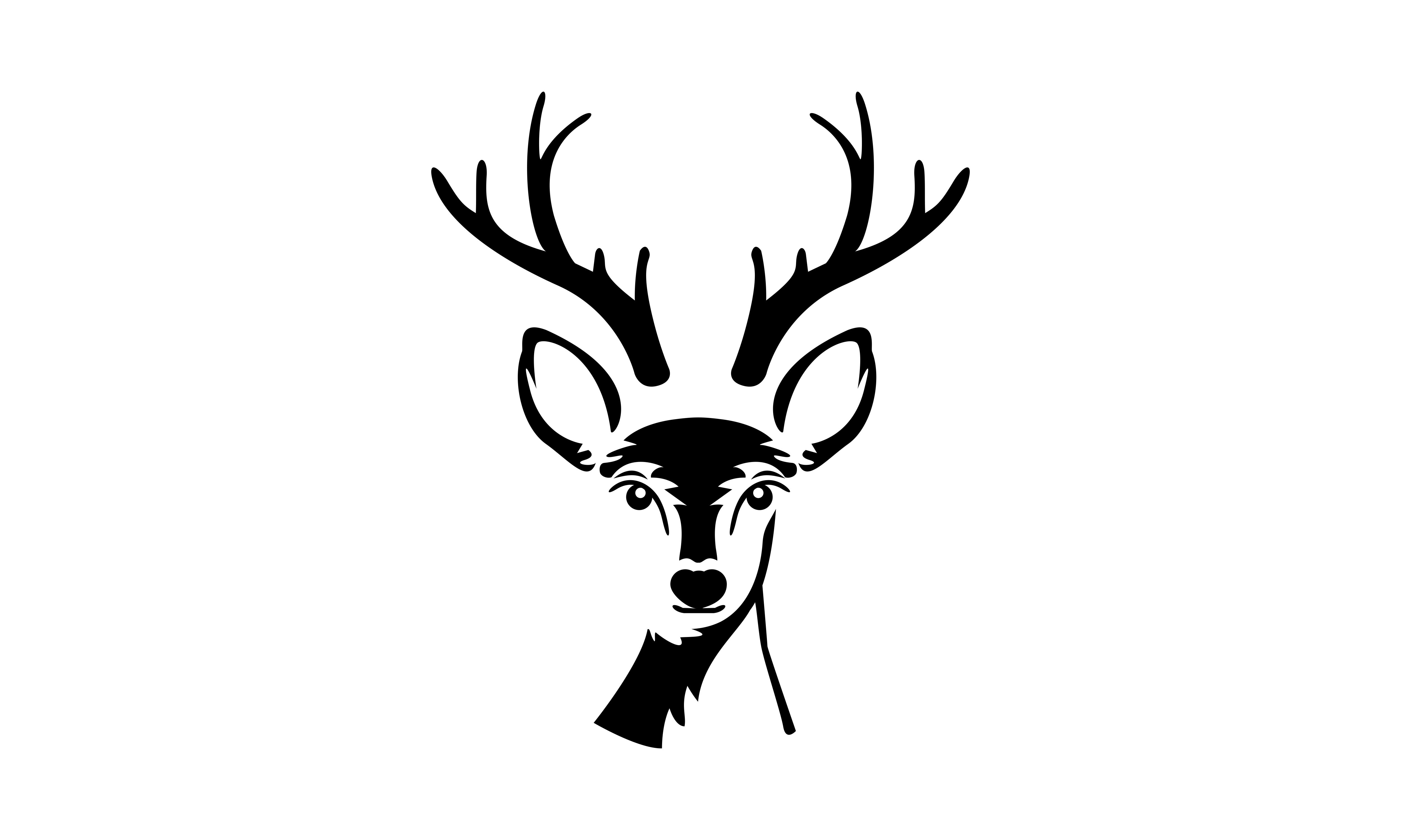 Download Free Deer Head Creative Design Logo Vector Graphic By 2qnah for Cricut Explore, Silhouette and other cutting machines.