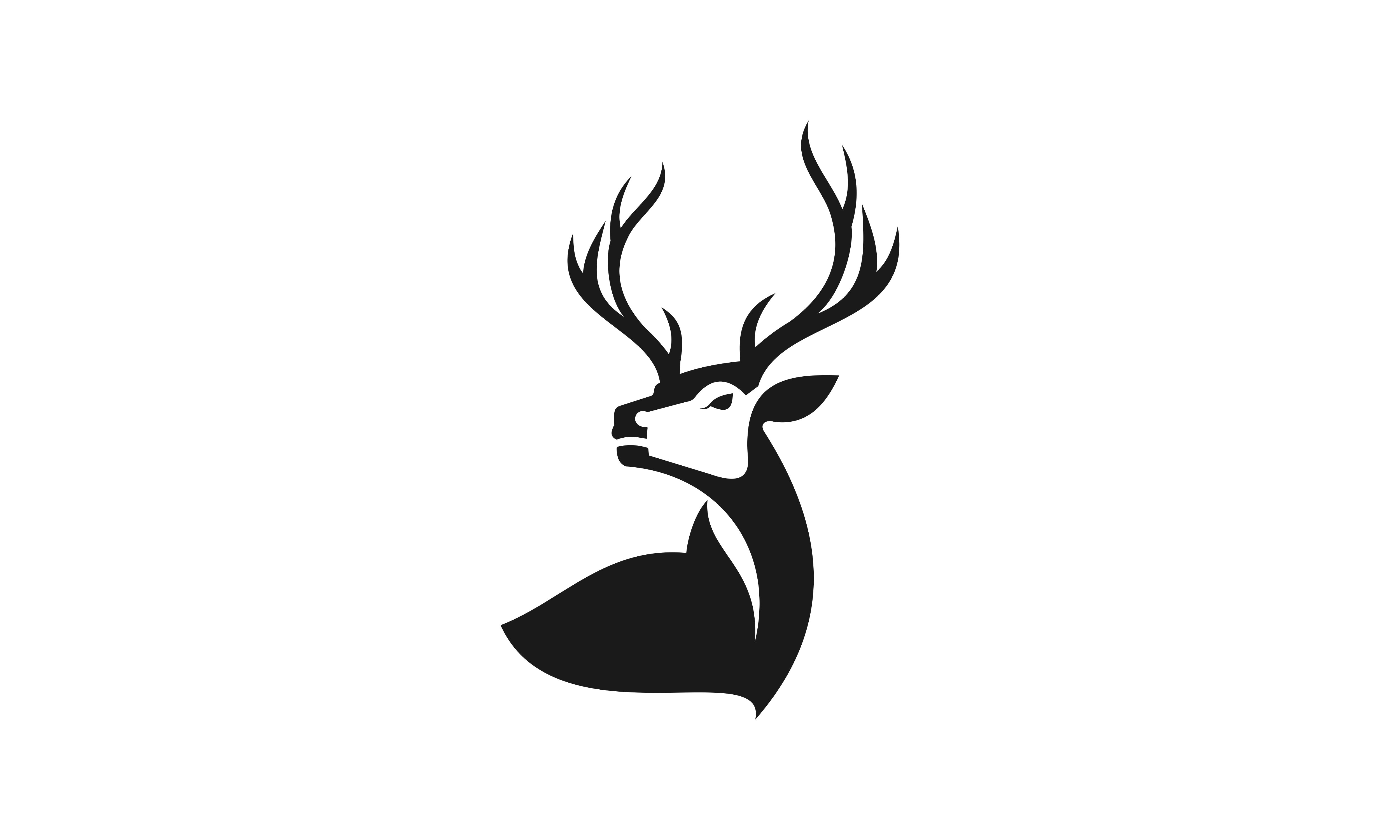 Download Free Deer Head Creative Design Logo Vector Grafico Por Deemka Studio for Cricut Explore, Silhouette and other cutting machines.