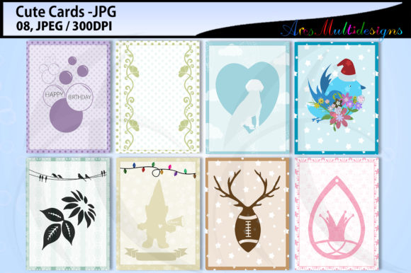 Print on Demand: E Cards Mini Bundle Graphic Backgrounds By Arcs Multidesigns