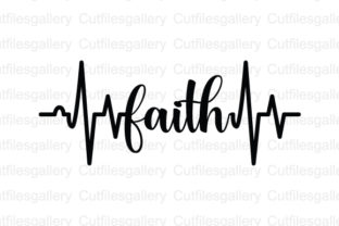 Download Free Faith Heartbeat Graphic By Cutfilesgallery Creative Fabrica for Cricut Explore, Silhouette and other cutting machines.