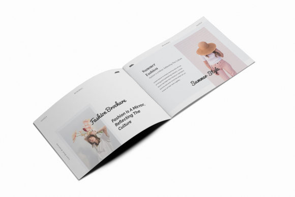 Download Free Fashion Lookbook A5 Brochure Graphic By Formatikastd Creative for Cricut Explore, Silhouette and other cutting machines.