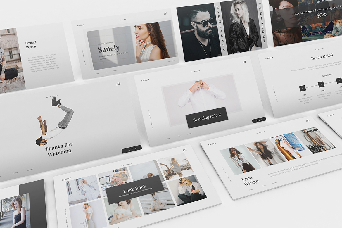 Download Free Fashion Lookbook Powerpoint Graphic By Formatikastd Creative for Cricut Explore, Silhouette and other cutting machines.