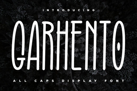 Print on Demand: Garhento Display Font By Kotak Kuning Studio
