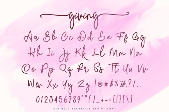 Print on Demand: Giving Script Script & Handwritten Font By aldedesign - Image 6