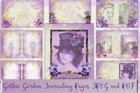 Print on Demand: Gothic Garden A4 Letter Size Backgrounds Graphic Crafts By The Paper Princess