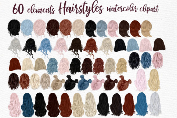 Hairstyles Clipart Girls Hairstyles Graphic Illustrations By LeCoqDesign - Image 1
