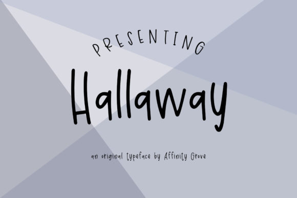 Print on Demand: Hallaway Sans Serif Font By affinitygrove - Image 1