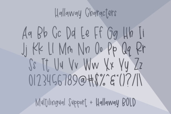 Print on Demand: Hallaway Sans Serif Font By affinitygrove - Image 2
