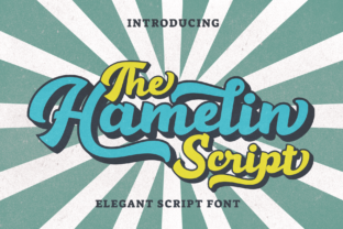 Download Free Hamelin Font By Letterbeary Creative Fabrica for Cricut Explore, Silhouette and other cutting machines.