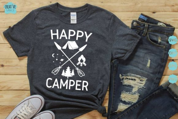 Happy Camper Graphic Crafts By creativespace - Image 1