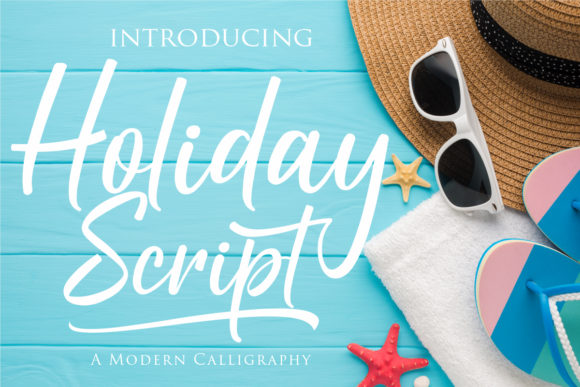 Print on Demand: Holiday Script Script & Handwritten Font By Gilar Studio
