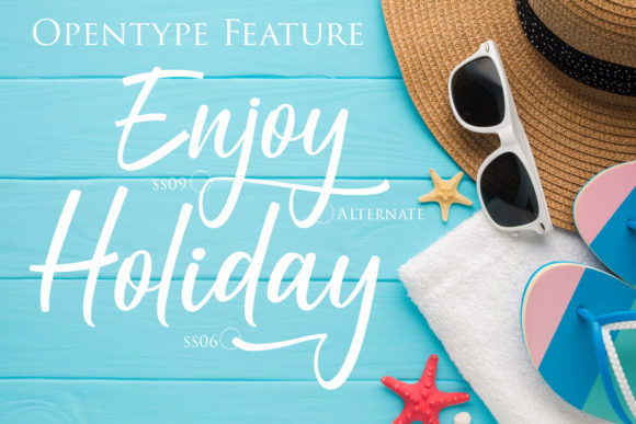 Download Free Holiday Script Font By Gilar Studio Creative Fabrica for Cricut Explore, Silhouette and other cutting machines.