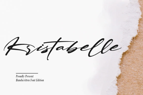 Print on Demand: Kristabelle Script & Handwritten Font By thomasaradea