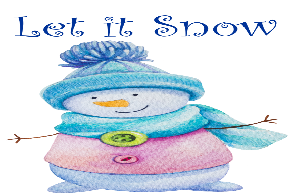 Print on Demand: Let It Snow Graphic Holidays By That Paradise Life