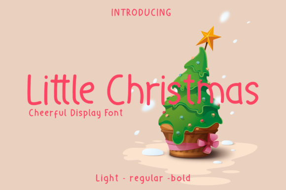 Print on Demand: Little Christmas Exhibición Fuente Por wellscriptstudio