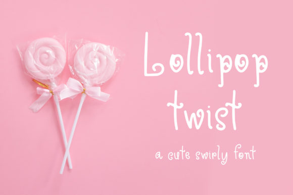Print on Demand: Lollipop Twist Sans Serif Font By affinitygrove