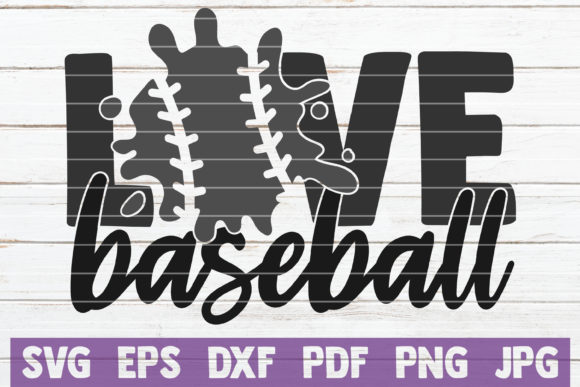 Love Baseball Graphic Graphic Templates By MintyMarshmallows