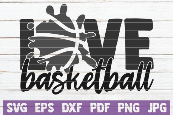 Download Free Love Basketball Graphic By Mintymarshmallows Creative Fabrica for Cricut Explore, Silhouette and other cutting machines.