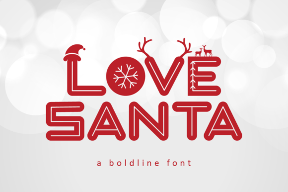 Print on Demand: Love Santa Display Font By illushvara