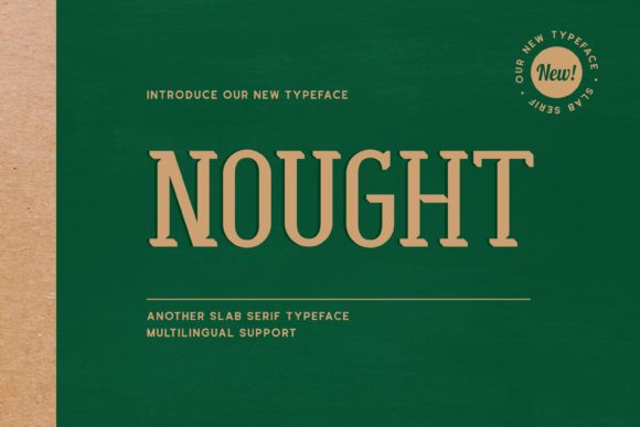 Print on Demand: Nought Display Font By Fype Co.