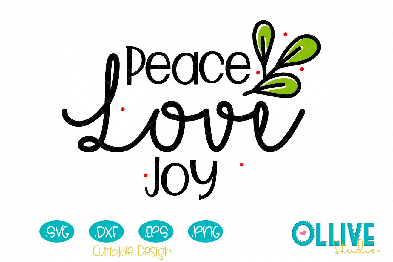 Download Free Peace Love Joy Christmas Graphic By Ollivestudio Creative Fabrica for Cricut Explore, Silhouette and other cutting machines.