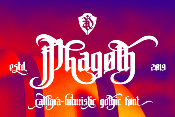 Print on Demand: Phagoth Blackletter Font By NREY