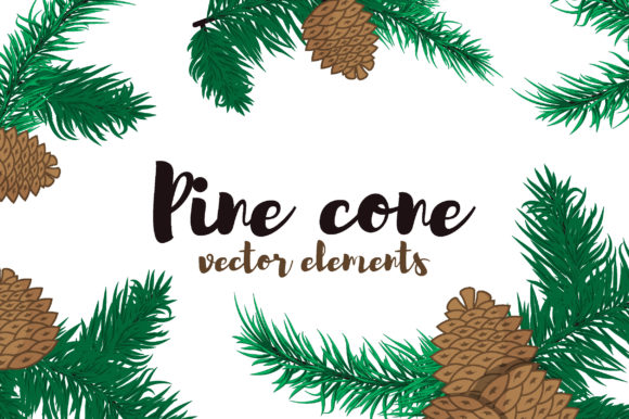 Pine Cone Elements Graphic Objects By danirablog