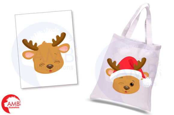 Reindeer Faces Graphic Illustrations By AMBillustrations - Image 5