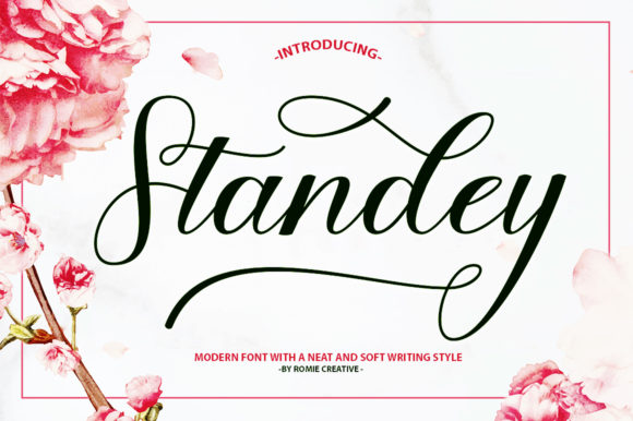 Print on Demand: Standey Manuscrita Fuente Por Romie Creative