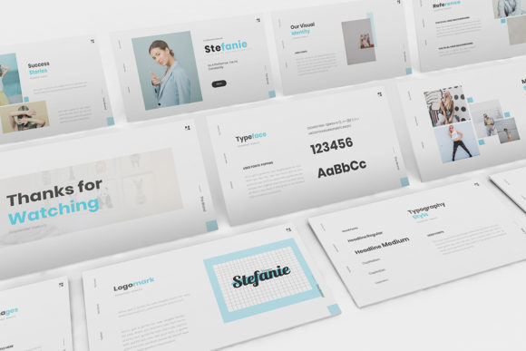 Stefani Branding Powerpoint Template Graphic Presentation Templates By formatikastd