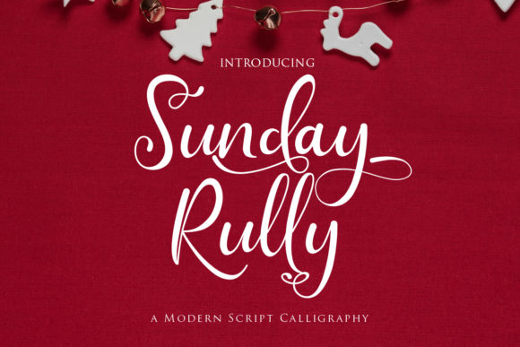 Print on Demand: Sunday Rully Script & Handwritten Font By Gilar Studio