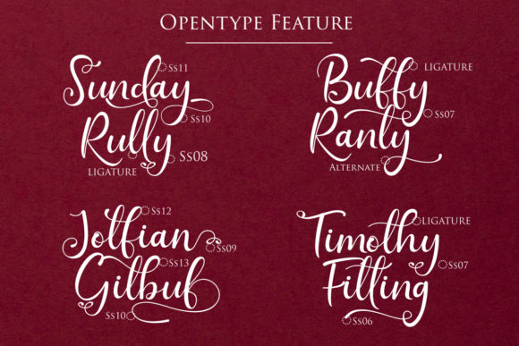 Print on Demand: Sunday Rully Script & Handwritten Font By Gilar Studio - Image 5