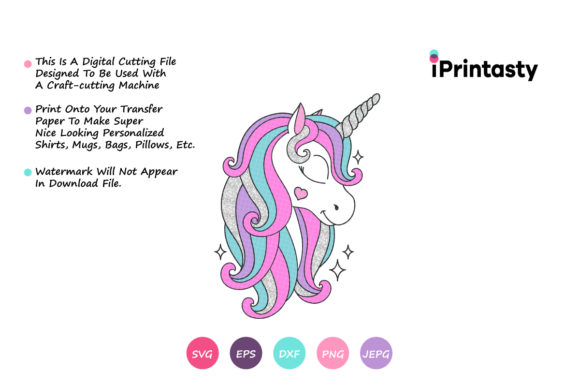 Download Free Unicorn Unicorn Clipart Graphic By Iprintasty Creative Fabrica for Cricut Explore, Silhouette and other cutting machines.