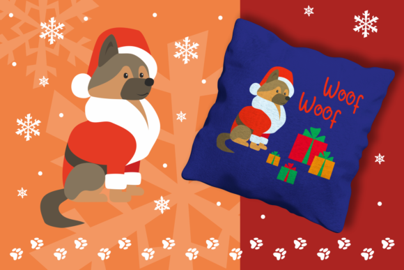 Print on Demand: Woof Cute Doggies in Christmas Costumes Graphic Illustrations By Olga Belova - Image 2