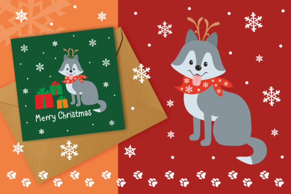 Print on Demand: Woof Cute Doggies in Christmas Costumes Graphic Illustrations By Olga Belova - Image 3