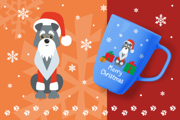 Print on Demand: Woof Cute Doggies in Christmas Costumes Graphic Illustrations By Olga Belova - Image 4
