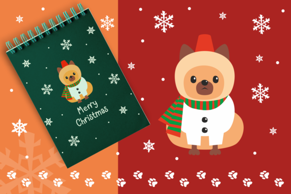 Print on Demand: Woof Cute Doggies in Christmas Costumes Graphic Illustrations By Olga Belova - Image 5