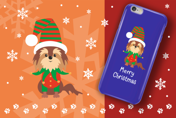 Print on Demand: Woof Cute Doggies in Christmas Costumes Graphic Illustrations By Olga Belova - Image 6