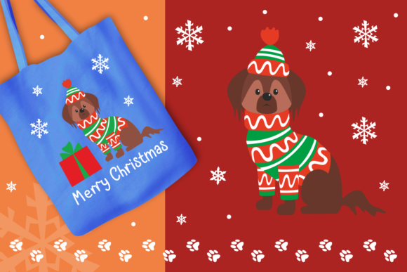 Print on Demand: Woof Cute Doggies in Christmas Costumes Graphic Illustrations By Olga Belova - Image 7