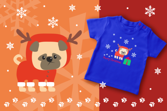 Print on Demand: Woof Cute Doggies in Christmas Costumes Graphic Illustrations By Olga Belova - Image 8