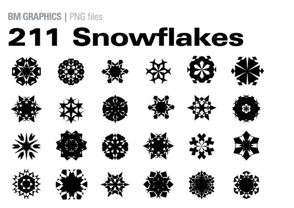 Print on Demand: Snowflakes Bundle Graphic Crafts By GraphicsBam Fonts - Image 1