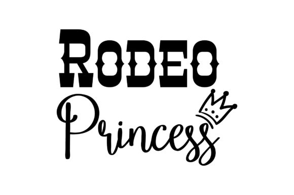 Rodeo Princess Cowgirl Plotterdatei von Creative Fabrica Crafts