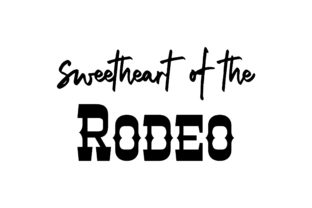 Sweetheart of the Rodeo Cowgirl Craft Cut File By Creative Fabrica Crafts