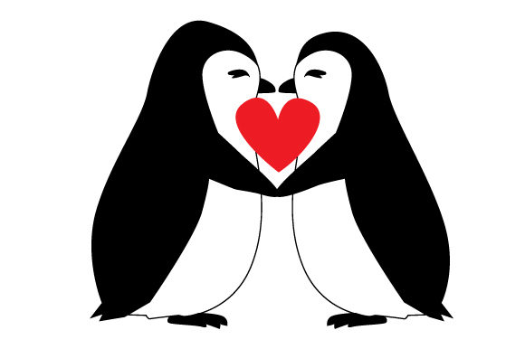 Penguin Love Svg Cut File By Creative Fabrica Crafts Creative
