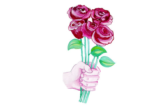 Download Free Offering A Bouquet Of Roses Svg Cut File By Creative Fabrica for Cricut Explore, Silhouette and other cutting machines.