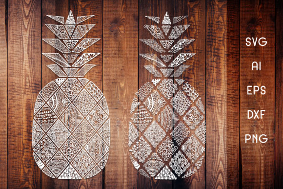 Download Free Zentangle Pineapple Graphic By Dasagani Creative Fabrica for Cricut Explore, Silhouette and other cutting machines.