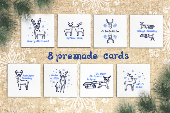 8 Hand Drawn Christmas Cards Graphic By Av Design Creative Fabrica